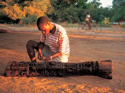 非洲进口Makonde马孔德木雕,非洲乌木碗木雕,非洲Makonde木雕,非洲马孔德木雕(LWC-103)