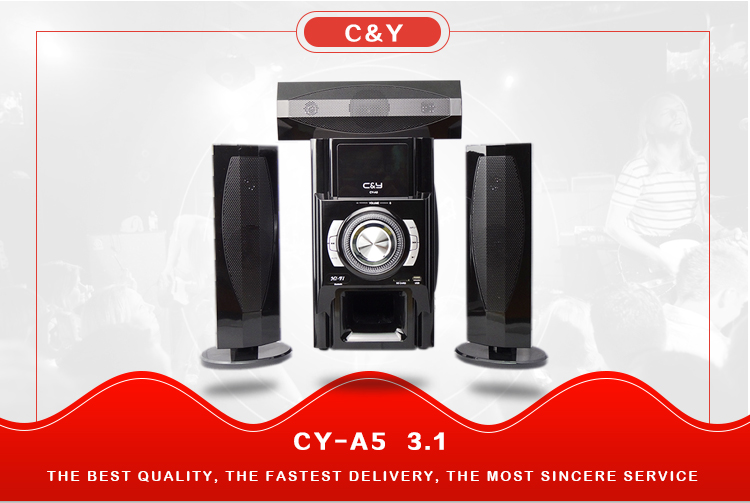 C&Y Hot sale 3.1 multimedia home theater sound system speaker with Bluetooth USB FM SD card
