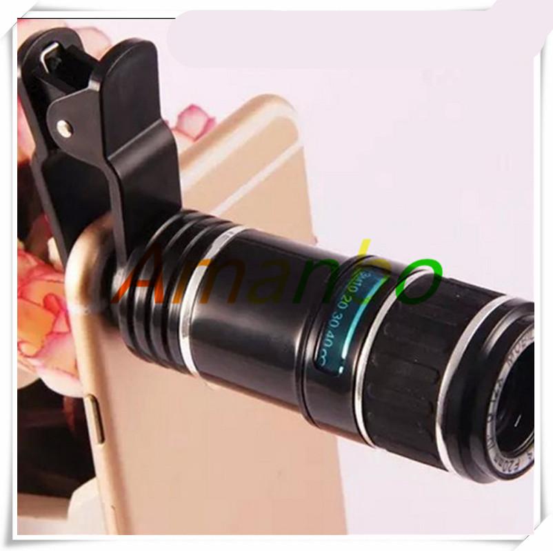 Mobile phone lens clip 12 times telescope 12X telephoto