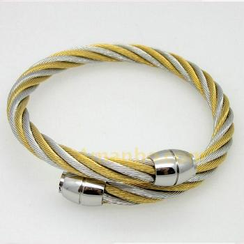 watches knobbed stainless free wire product cable end bangles jewelry cuff steel and bracelet