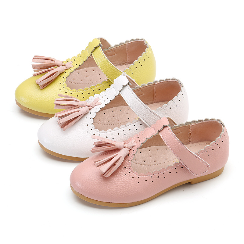 Walking Shoes Soft Leather Rubber Sole